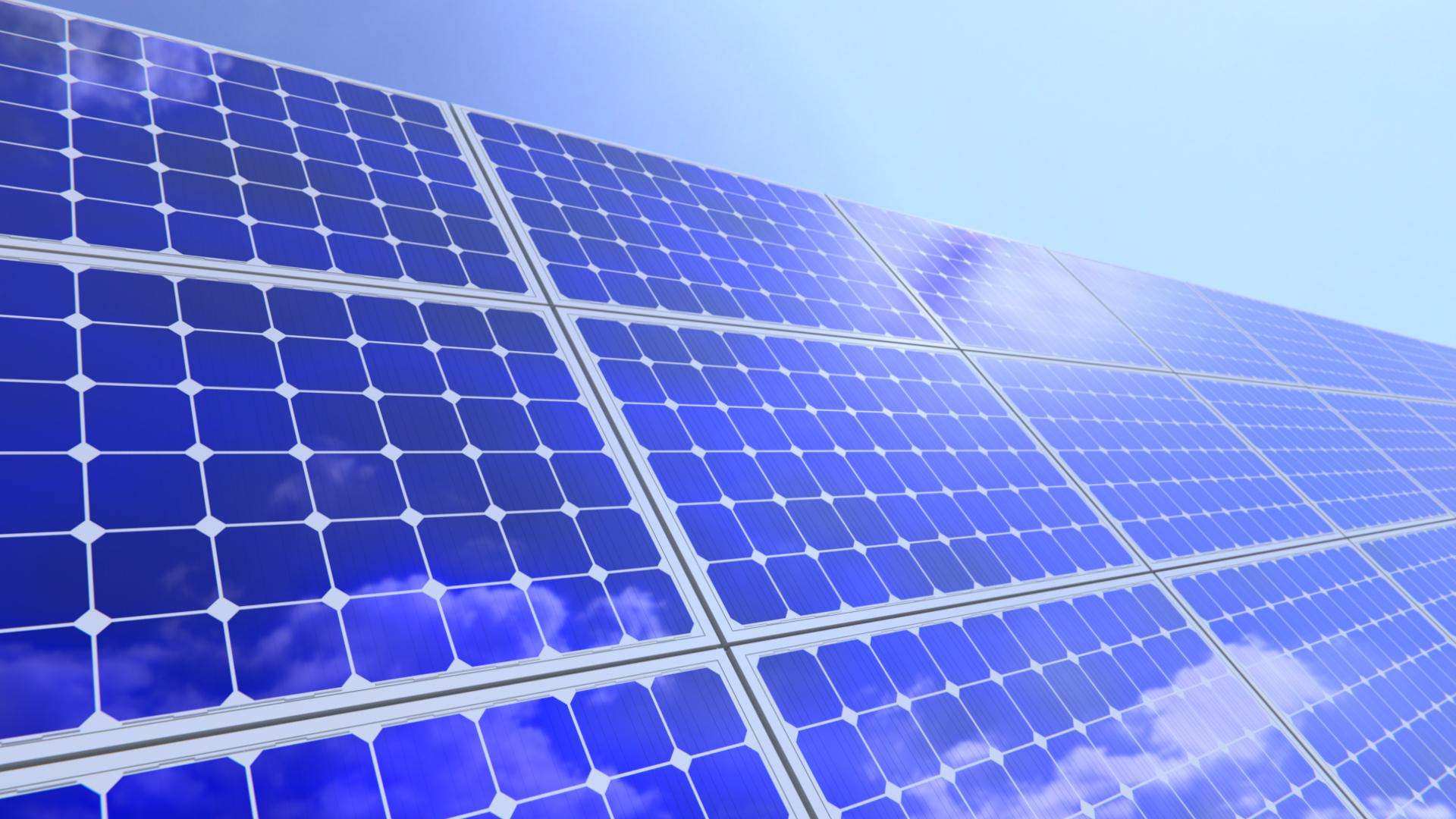 Solar-Paneel Strom
