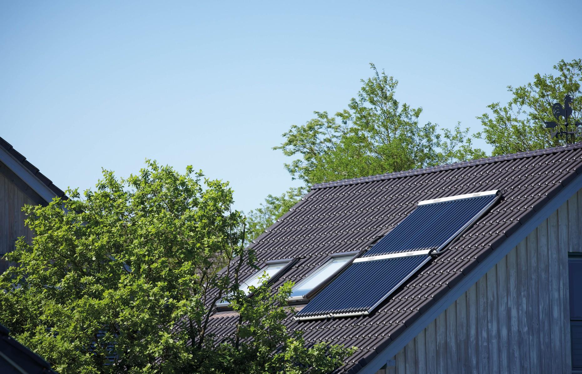 Solar-Paneel Warmwasser