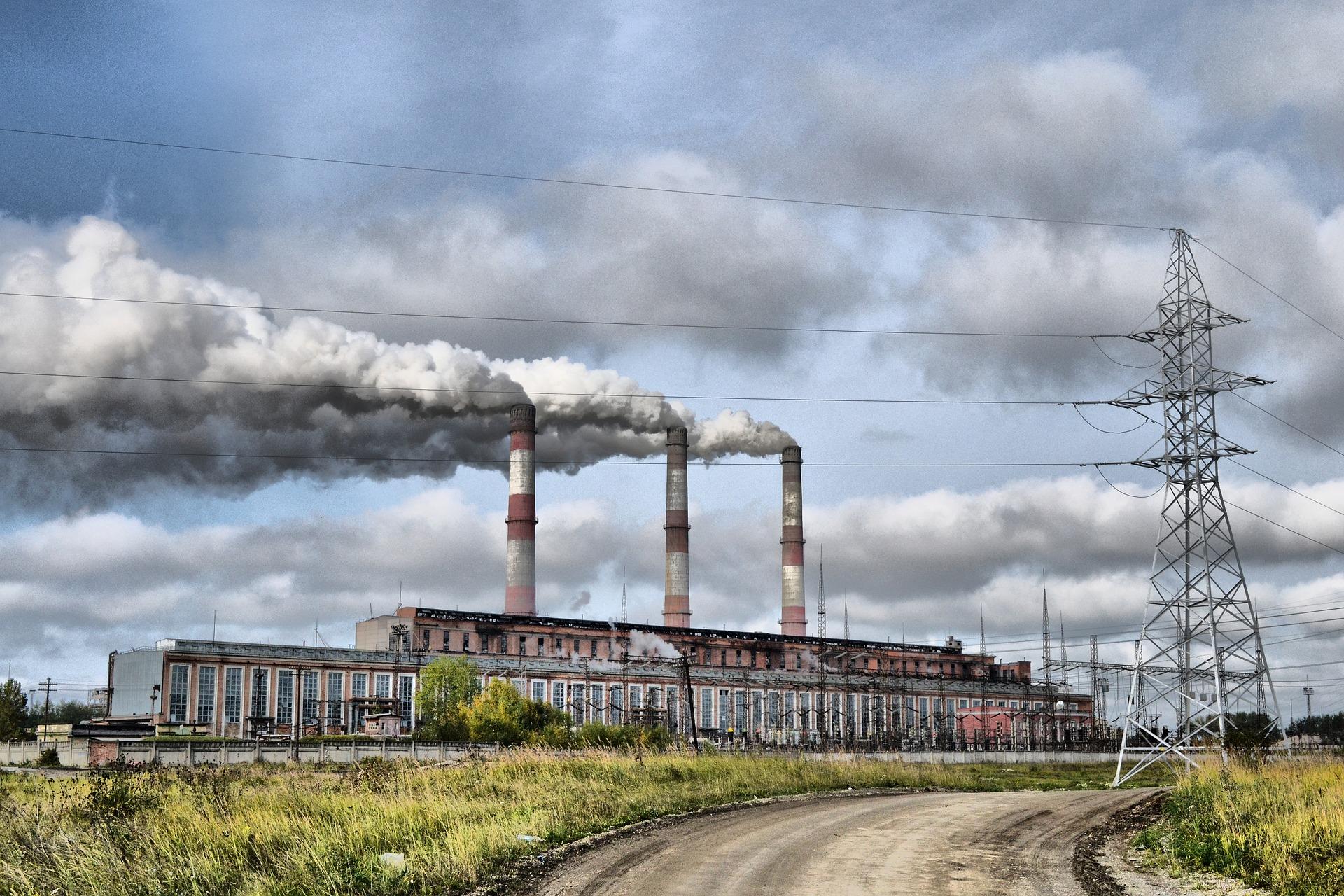 Kraftwerk-Abgase Luftverschmutzung